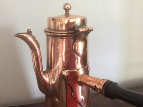 18th century copper chocolate pot