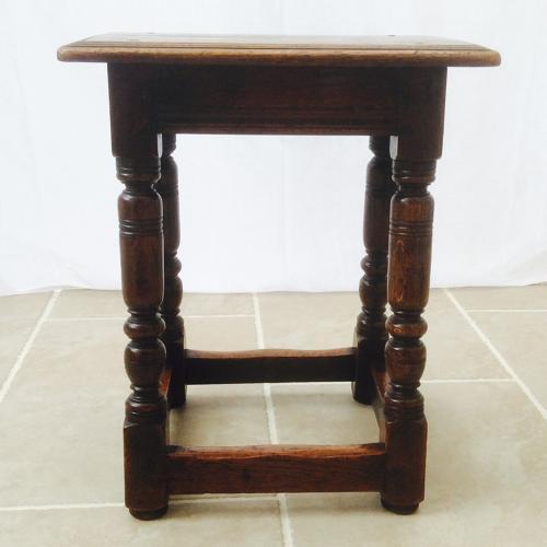 English oak 19th Century joynt stool