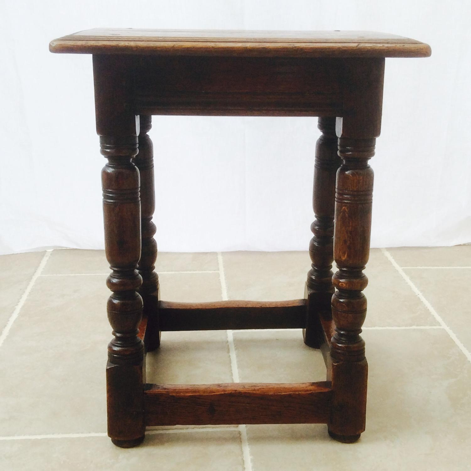 English oak 19th Century joynt stool