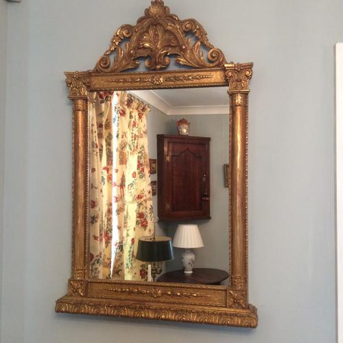 Late George III Gilt frame mirror c1800