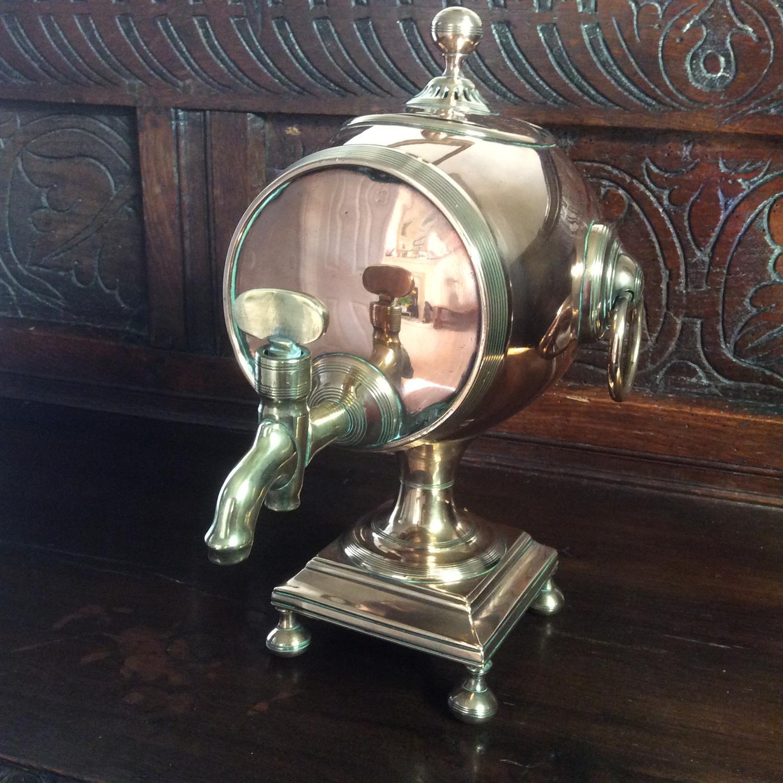 18th century George III copper samovar