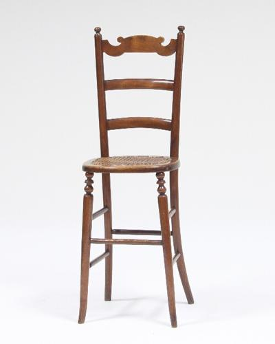Child's Regency Period beechwood Deportment chair