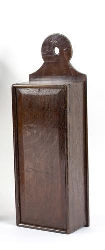 18th century oak candle box