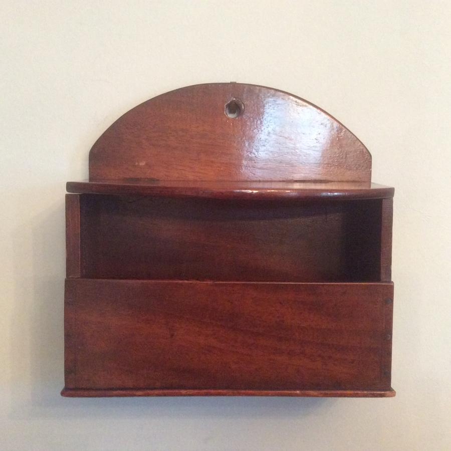 19th century mahogany candle box