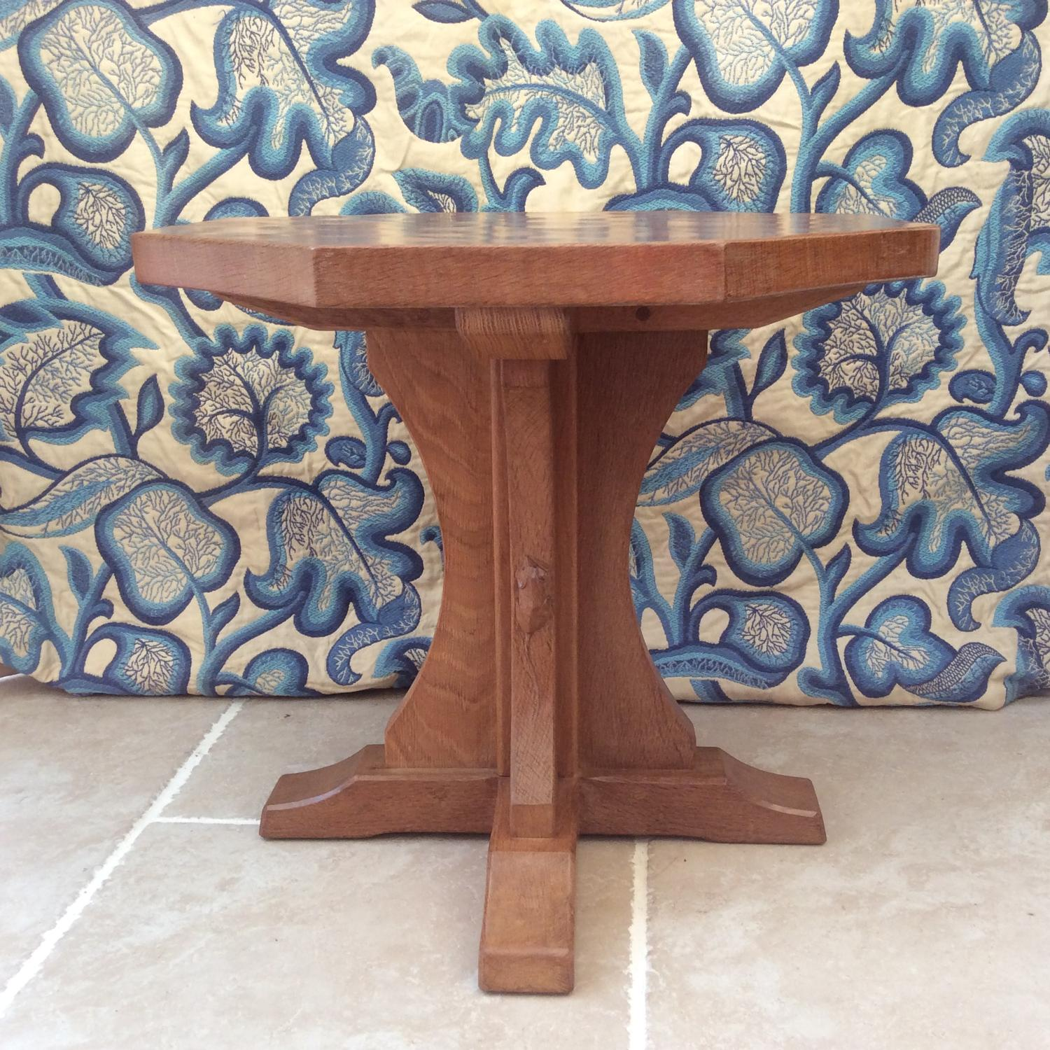 Small Octagonal Mouseman Coffee Table