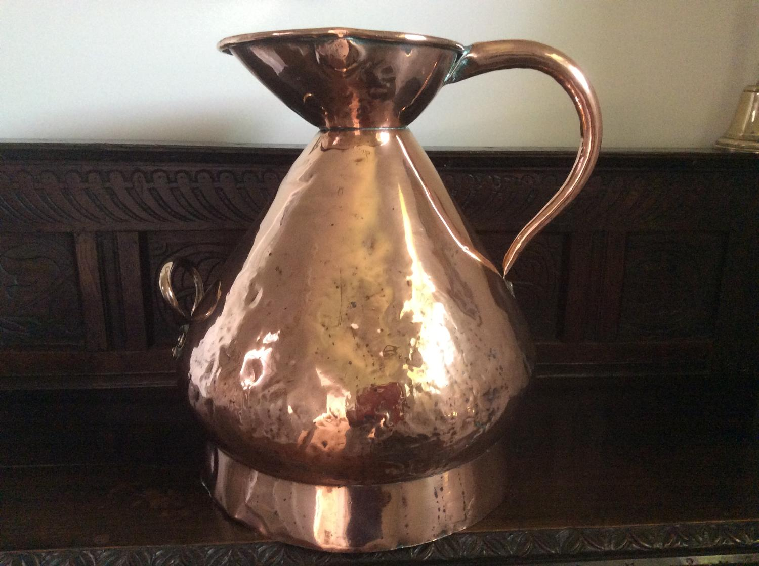 19th century copper four gallons  measure