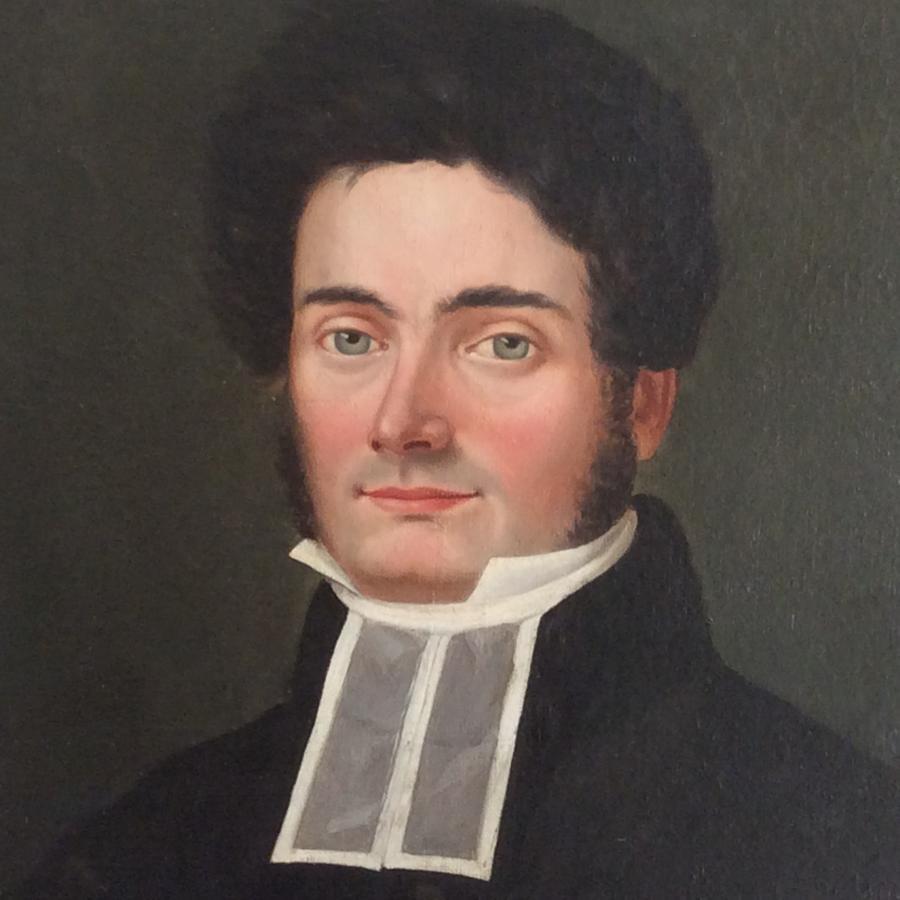 Regency period oil on canvas portrait