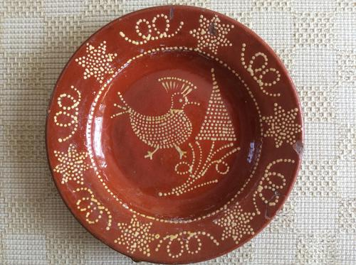 English slipware dish