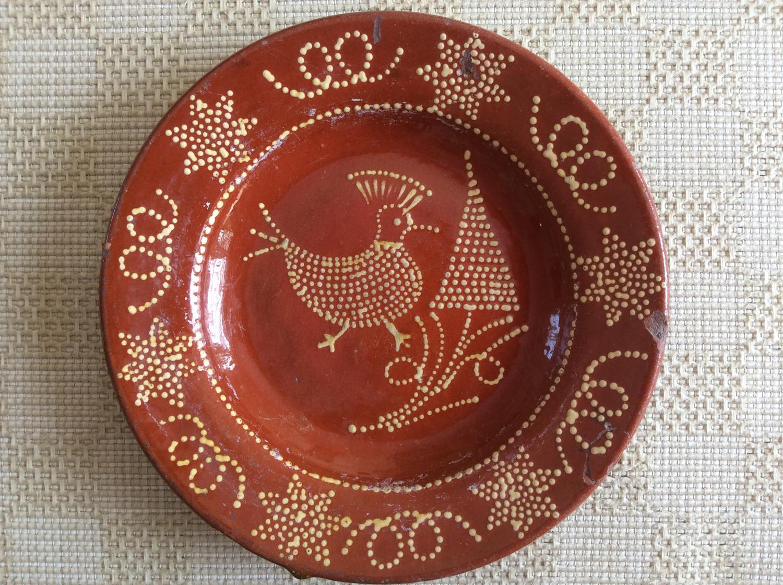 English slipware dish