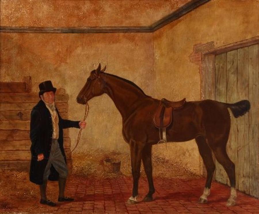 19th Century English School naive oil on canvas