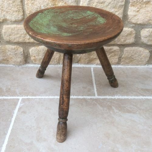 19th Century Welsh Sycamore Stool
