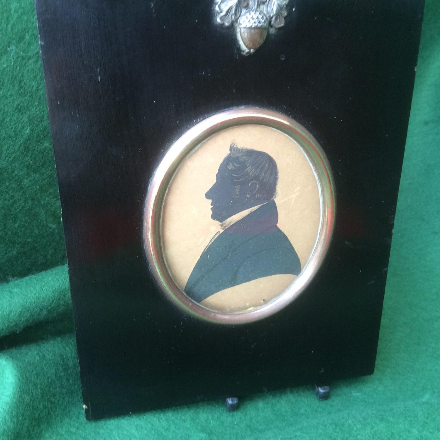 19th Century silhouette of a gentleman