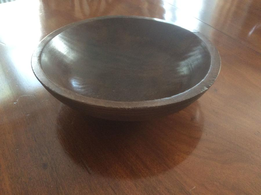 Large 19th Century Sycamore dairy bowl