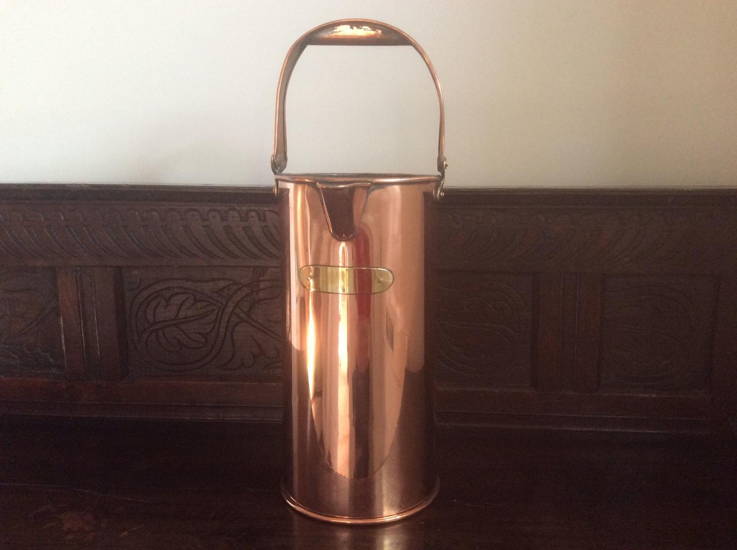 19th Century Victorian six quart copper measure