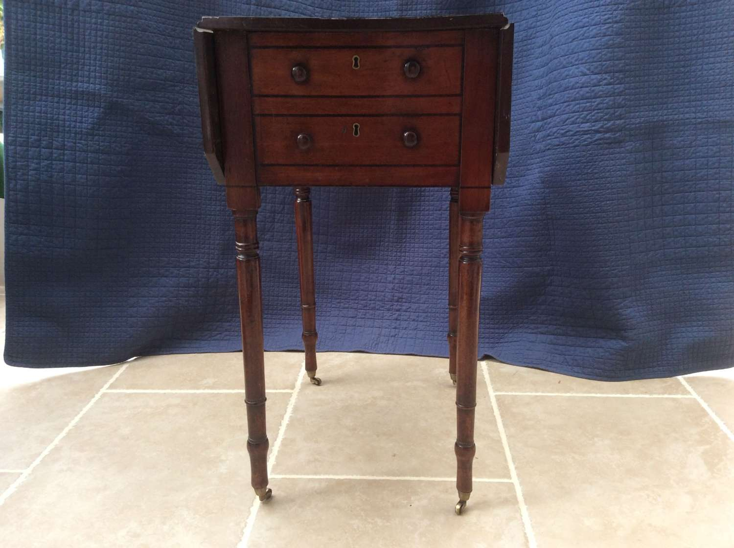 Regency mahogany Pembroke work table