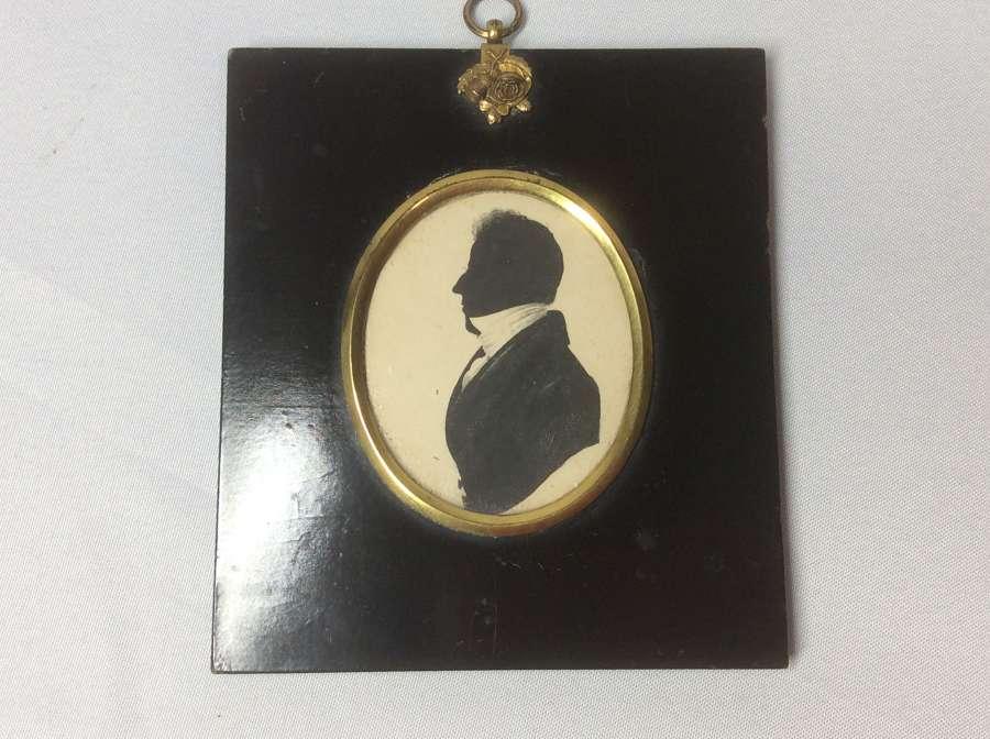 19th Century Silhouette of a Georgian Gentleman