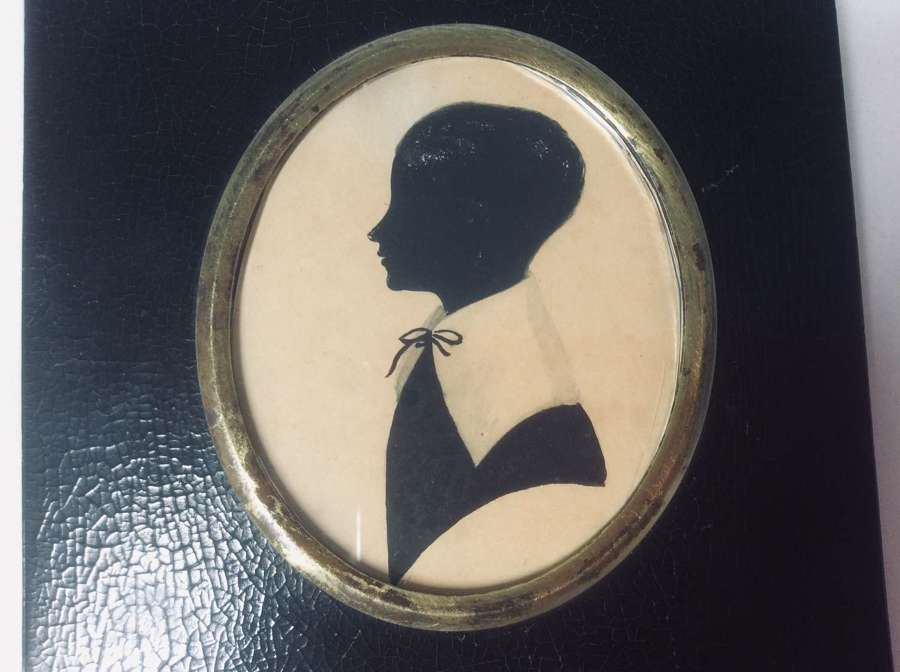 Regency period silhouette of the young George Bird of Church Eaton