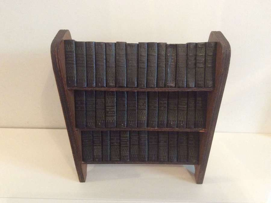 Miniature Complete Works of Shakespeare in Bookcase