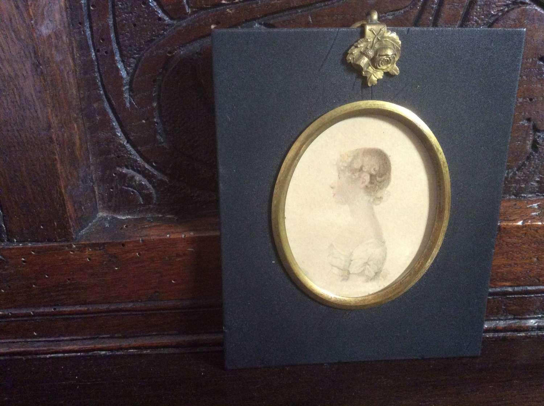 Regency period portrait miniature