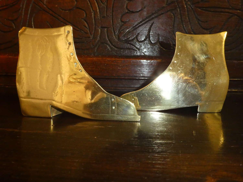 Brass boots chimney posy ornaments