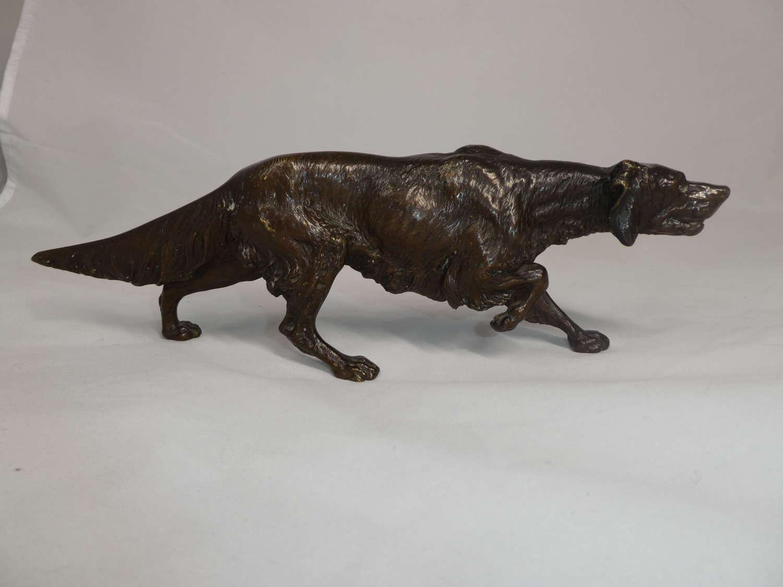 Franz Bergmann, Bronze figure of a Setter